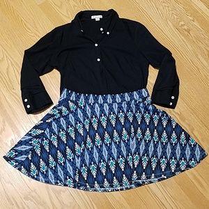 Aeropostale Tribal Pattern Skirt
